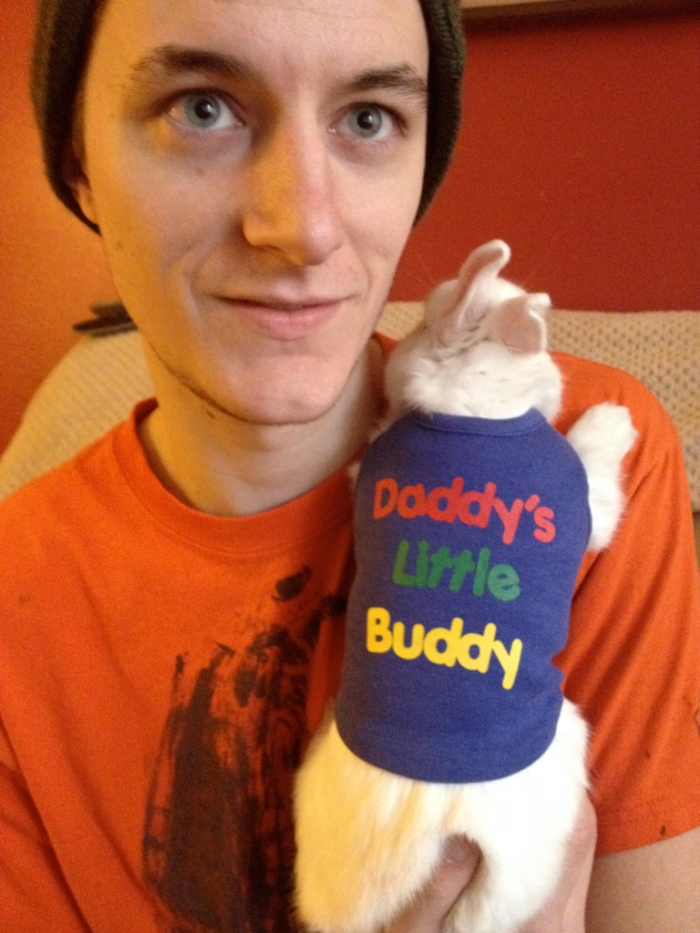 Daddy's little buddy