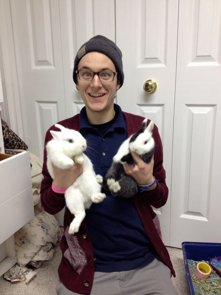 Nick with his babies